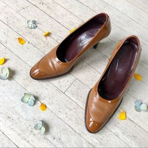 Brown Tod's pumps with 3in heel
